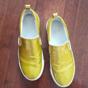 Marc Jacob's Gold Slip-on Sneaker